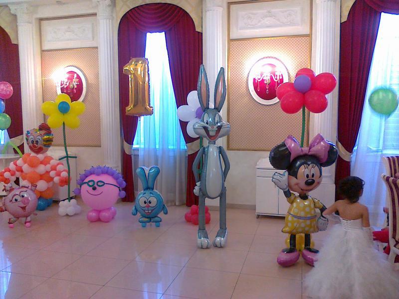 Воздушные шарики любимых персонажей