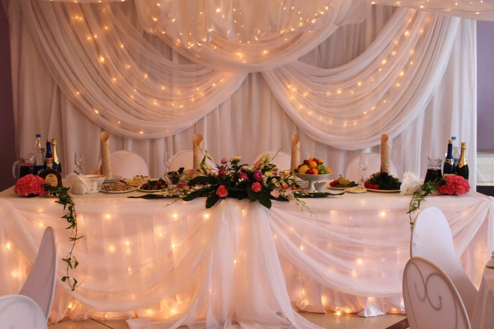 Оформление розового зала на свадьбу