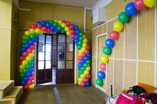 Оформление воздушными шарами своими руками фото