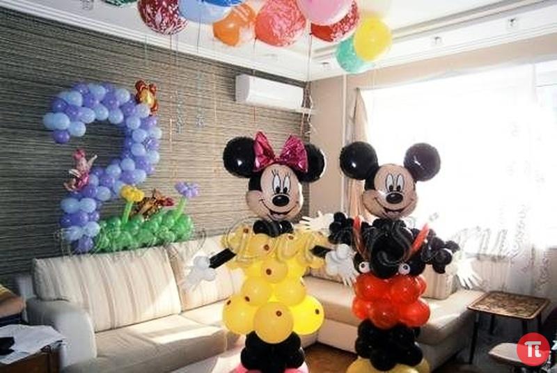 Как сделать Микки Мауса из воздушных шаров. Микки Маус